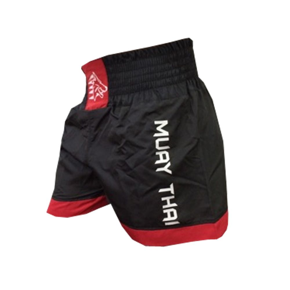 Calção Short Muay Thai - Lutador V2 - Preto/Vermelho  - Uppercut -
