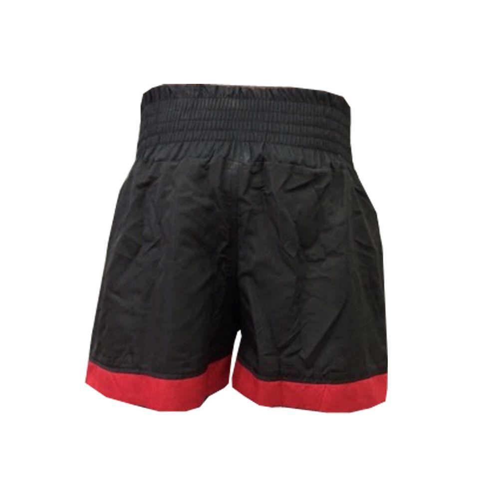 Calção / Short Muay Thai - Lutador V2 - Preto/Vermelho  - Uppercut  - Loja do Competidor