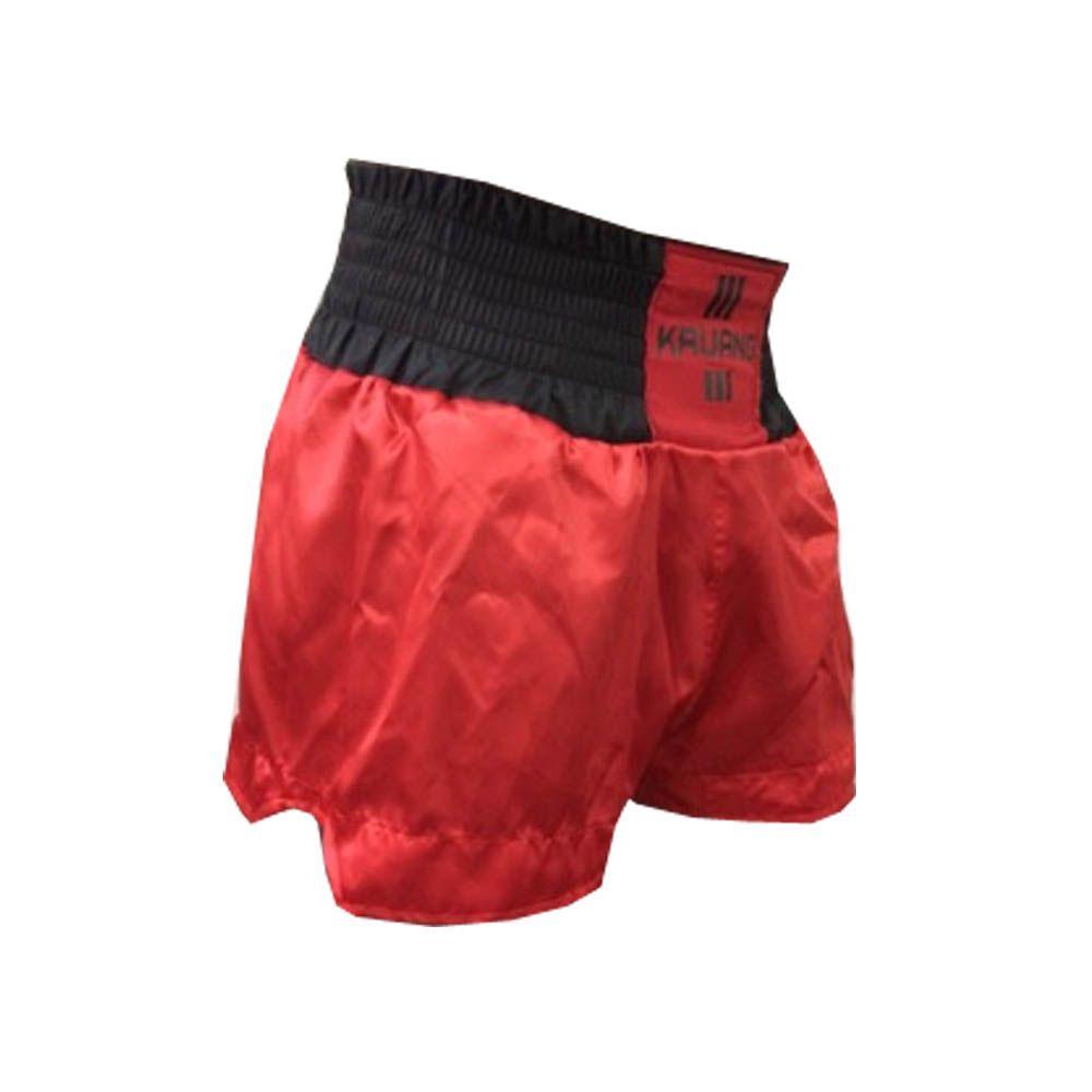 Calção / Short Muay Thai - Lutador V3 - Vermelho/Preto - Uppercut  - Loja do Competidor