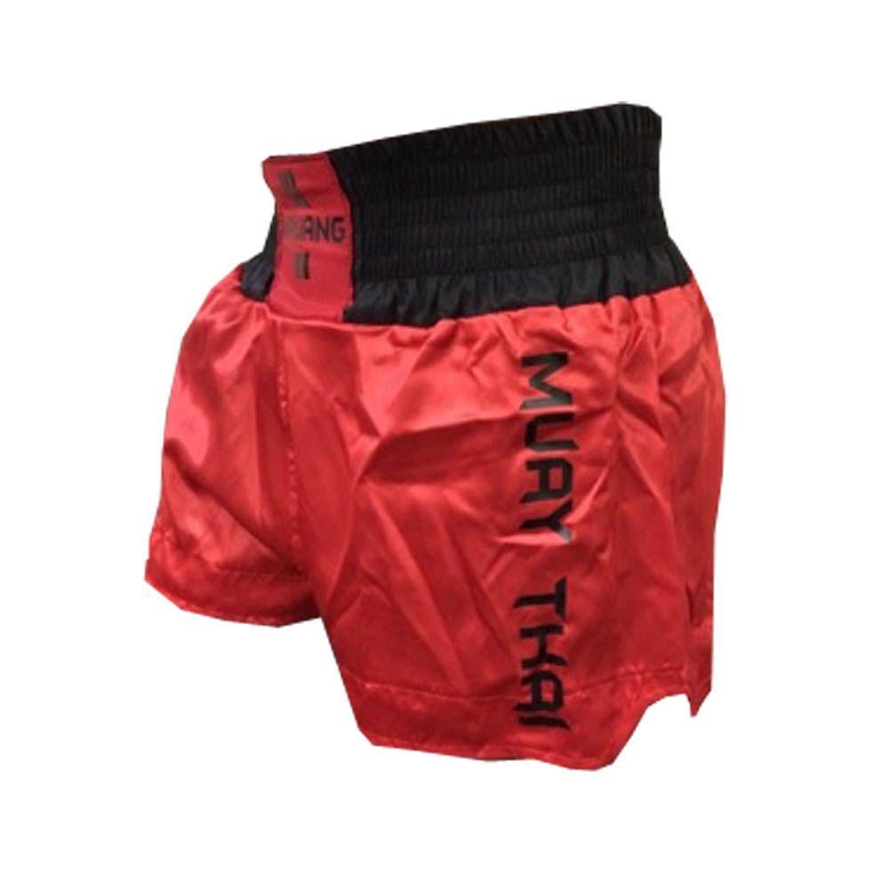 Calção / Short Muay Thai - Lutador V3 - Vermelho/Preto - Uppercut