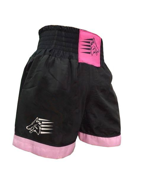 Calção / Short Muay Thai - Nacional - Preto/Rosa- Uppercut  - Loja do Competidor