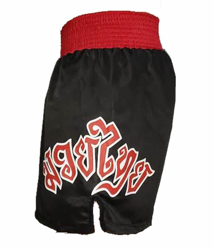 Calção Short Muay Thai - New Ram Muay-  Tribal - Preto/Verm - Toriuk -  - Loja do Competidor