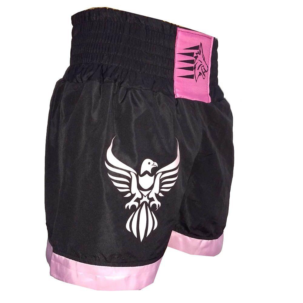 Calção Short Muay Thai - Phoenix V2 - Preto/Rosa - Uppercut