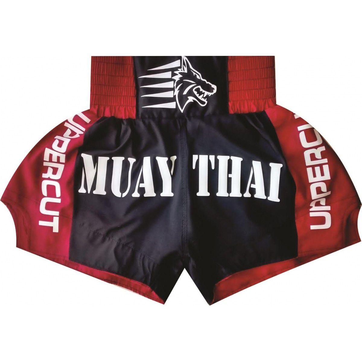 Calção / Short Muay Thai - Premium - Vermelho/Preto- Uppercut .