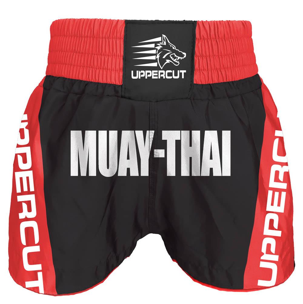 Calção / Short Muay Thai - Premium - Vermelho/Preto - Uppercut