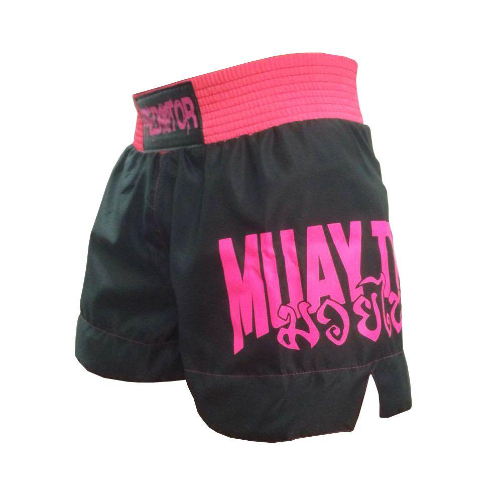 Calção Short Muay Thai - Skull  V2 - Feminino - Predator -  - Loja do Competidor