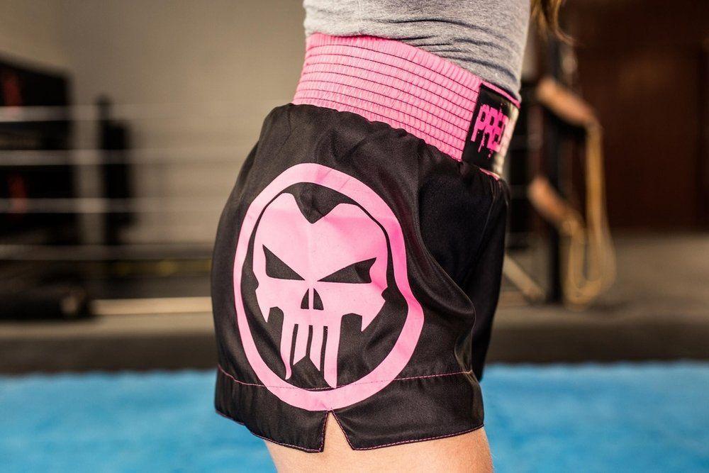 Calção / Short Muay Thai - Skull  V2 - Feminino - Predator .  - Loja do Competidor