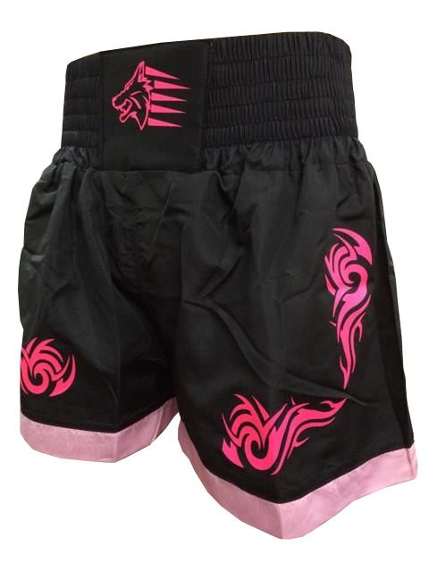 Calção / Short Muay Thai - Start - Tribal- Preto/Rosa- Uppercut .  - Loja do Competidor