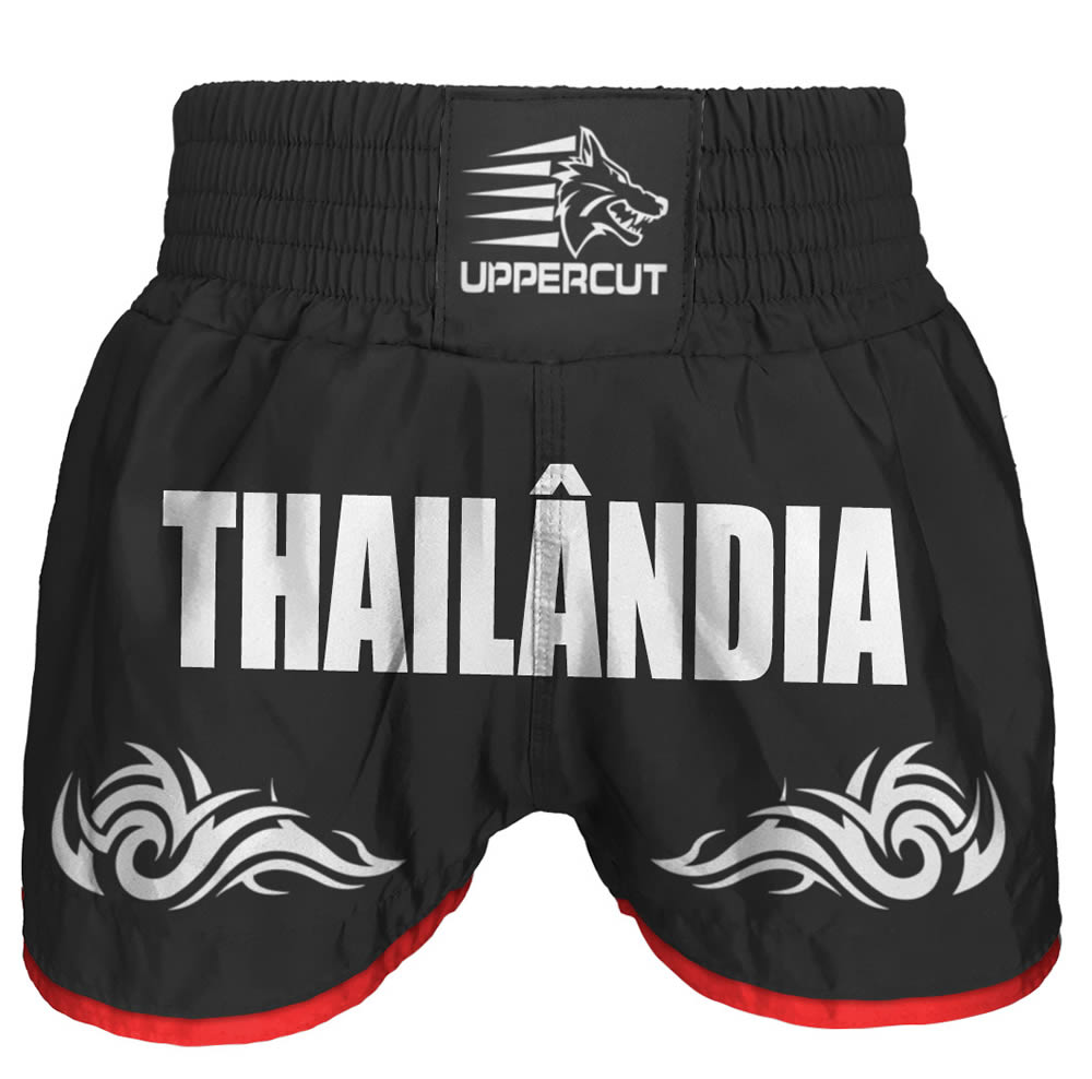 Calção Short Muay Thai Thailandia Tribal - Preto - Uppercut  - Loja do Competidor