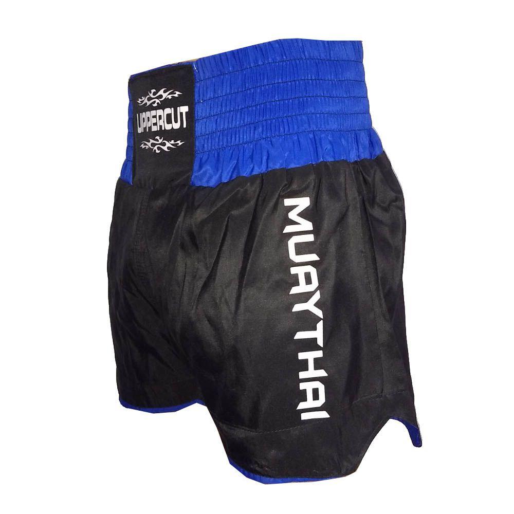 Calção Short Muay Thai - Titan -  Preto/Azul - Uppercut