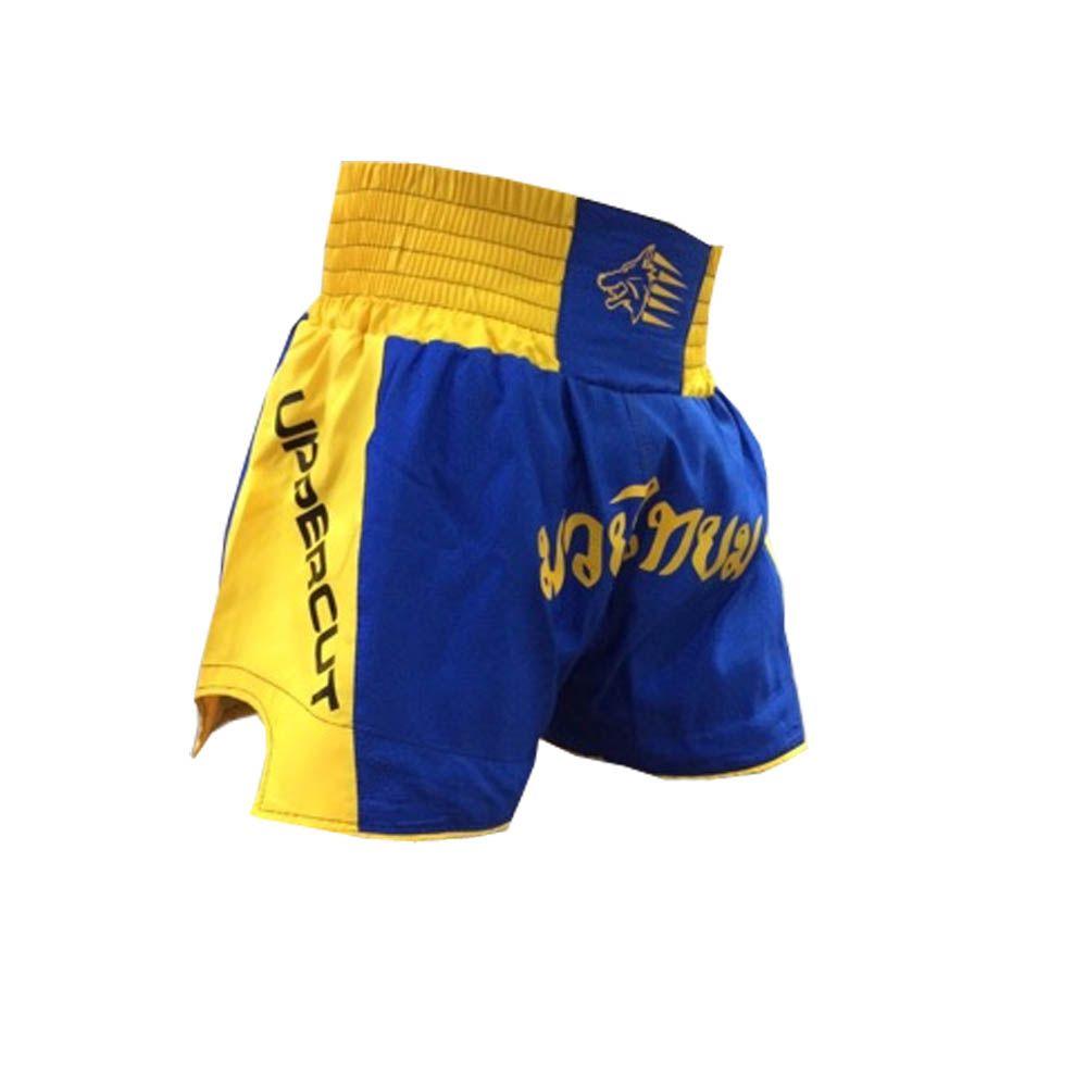 Calção Short Muay Thai - Traditional - Azul/Amarelo - Uppercut  - Loja do Competidor