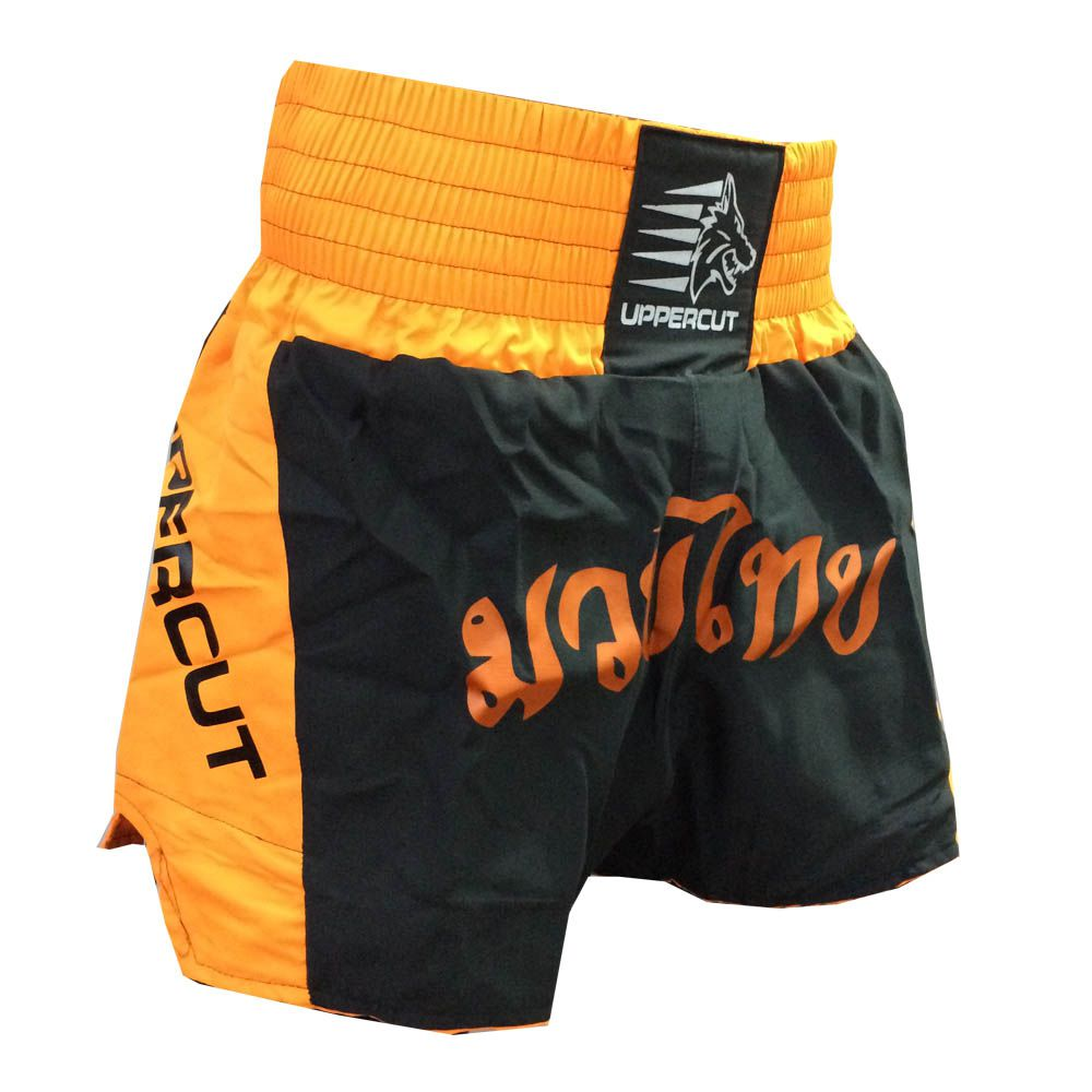 Calção Short Muay Thai - Traditional - Preto/Laranja - Uppercut -