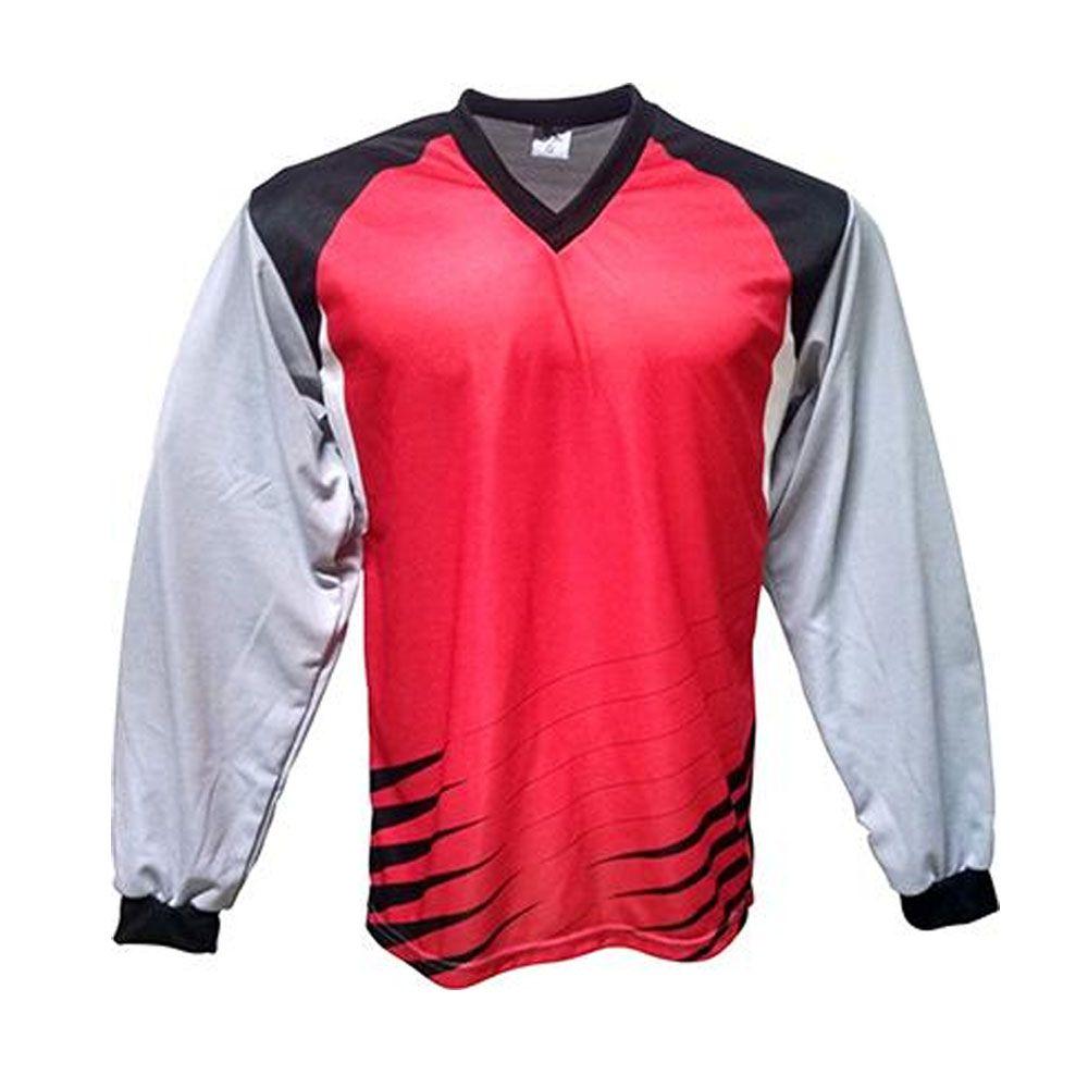 Camisa Blusão Goleiro- Futebol / Futsal / Society-  Parma - N1 - Vermelho/Preto- Adulto - Kanga  - Loja do Competidor
