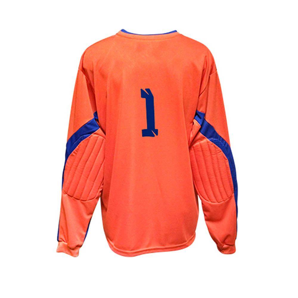 Camisa Blusão Goleiro- Futebol / Futsal / Society- Turim - Azul/Laranja- Adulto - Kanga  - Loja do Competidor