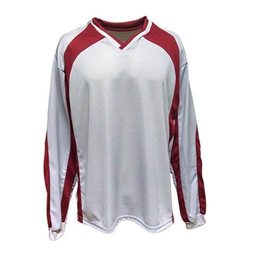 Camisa Blusão Goleiro- Futebol / Futsal / Society- Turim - Branco/Verm - Adulto - Kanga  - Loja do Competidor