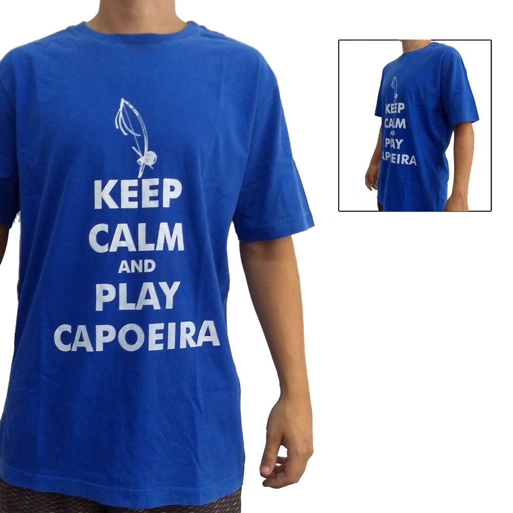 Camisa Camiseta Keep Calm and Play Capoeira - John Brazil -