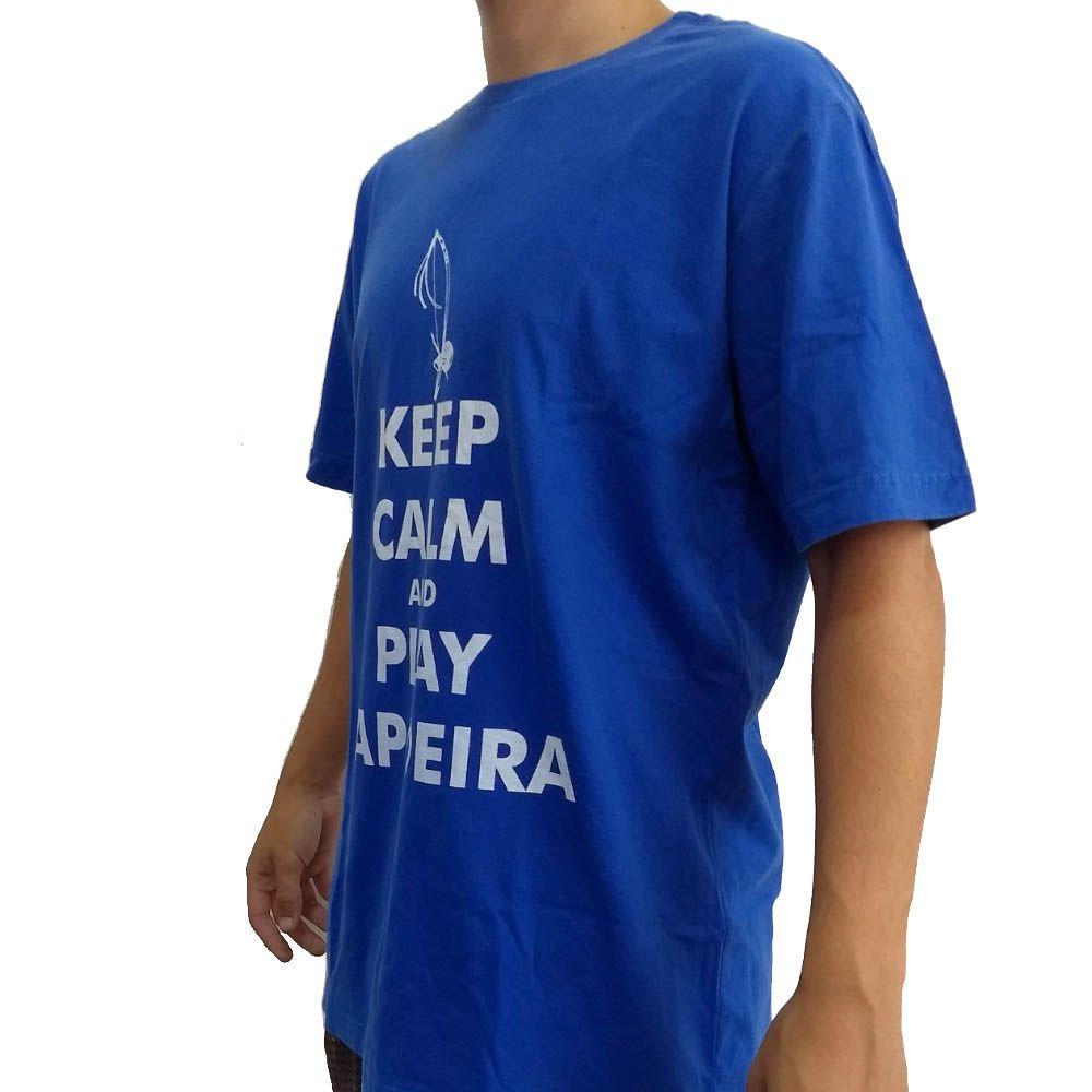 Camisa Camiseta Keep Calm and Play Capoeira - John Brazil -  - Loja do Competidor