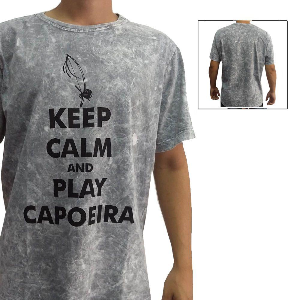 Camisa Camiseta Artes Marciais- Play Capoeira V2 - Cinza- John Brazil
