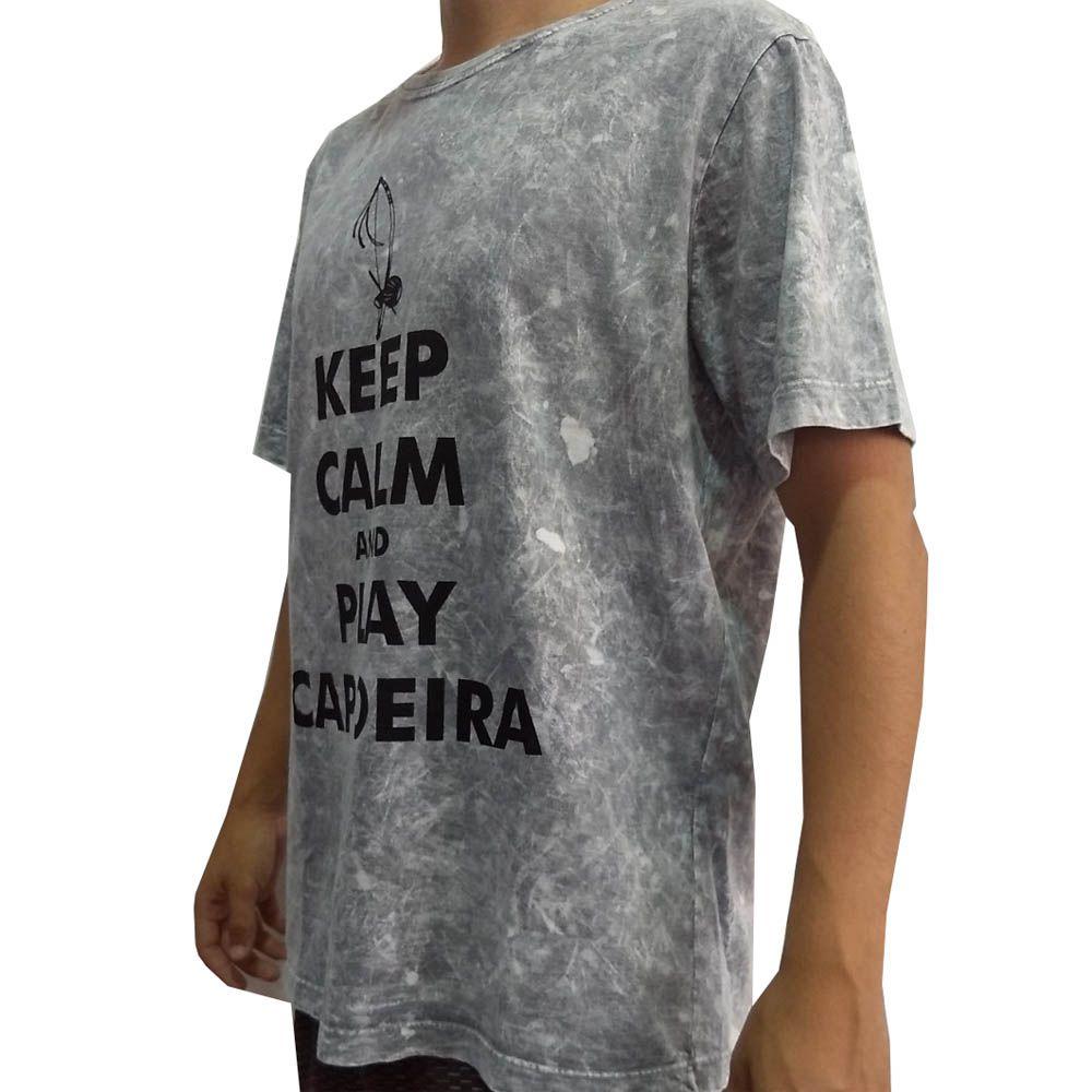 Camisa Camiseta Artes Marciais- Play Capoeira V2 - Cinza- John Brazil  - Loja do Competidor