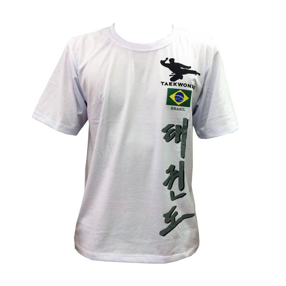 Camiseta de Treino Hanja Brasil Taekwondo Branca - Toriuk -  - Loja do Competidor