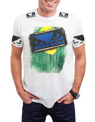 Camisa/Camiseta - Brazilian Flag- - Branco- Bad Boy .
