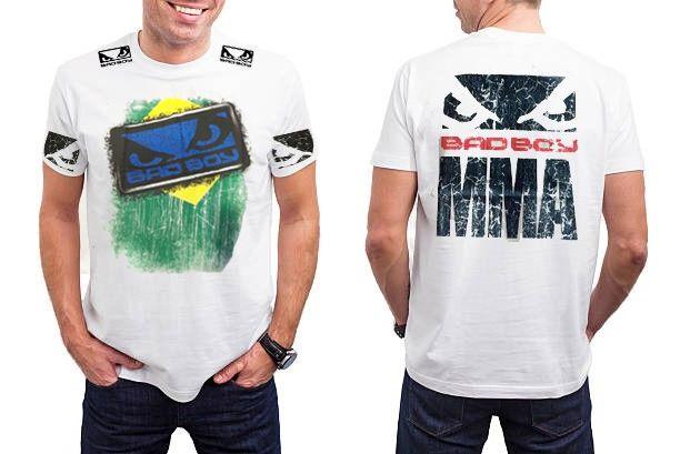 Camisa/Camiseta - Brazilian Flag- - Branco- Bad Boy .  - Loja do Competidor
