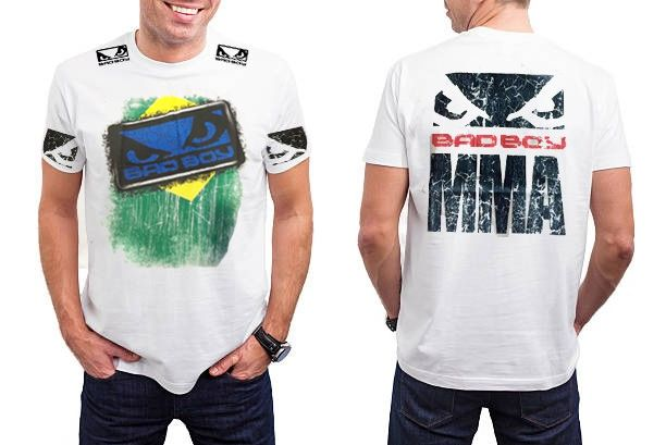 Camisa Camiseta - Brazilian Flag - Branco - Bad Boy -  - Loja do Competidor