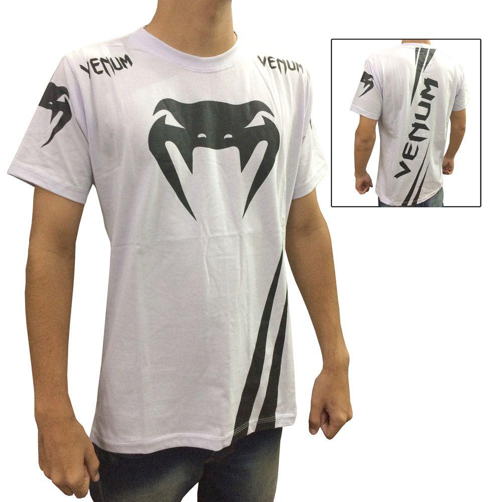 Camisa Camiseta - Cobra - Branco/Preto - Venum -