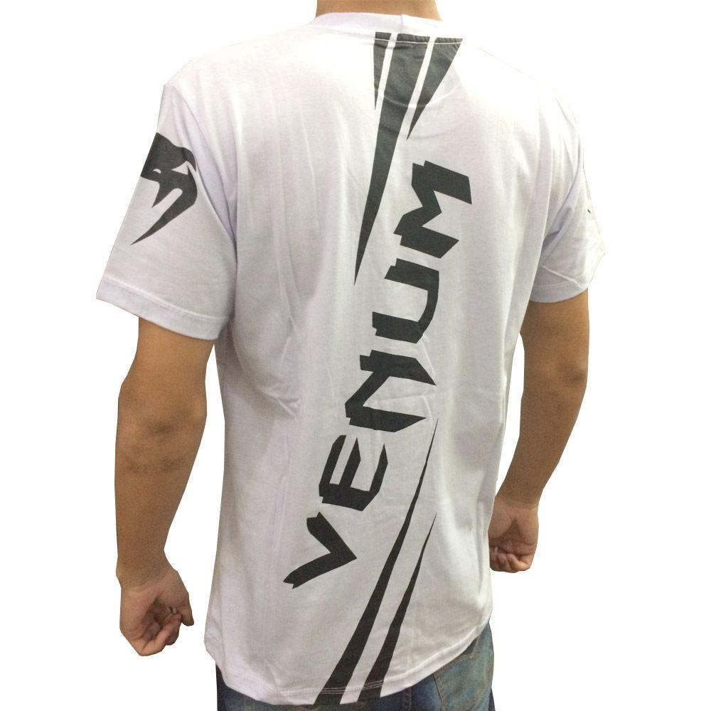 Camisa Camiseta - Cobra - Branco/Preto - Venum  - Loja do Competidor