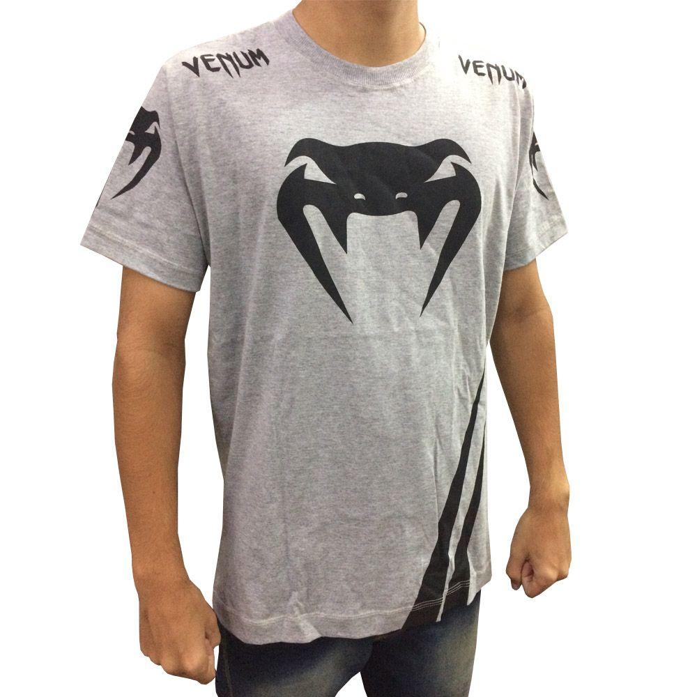 Camisa Camiseta - Cobra - Cinza - Venum  - Loja do Competidor