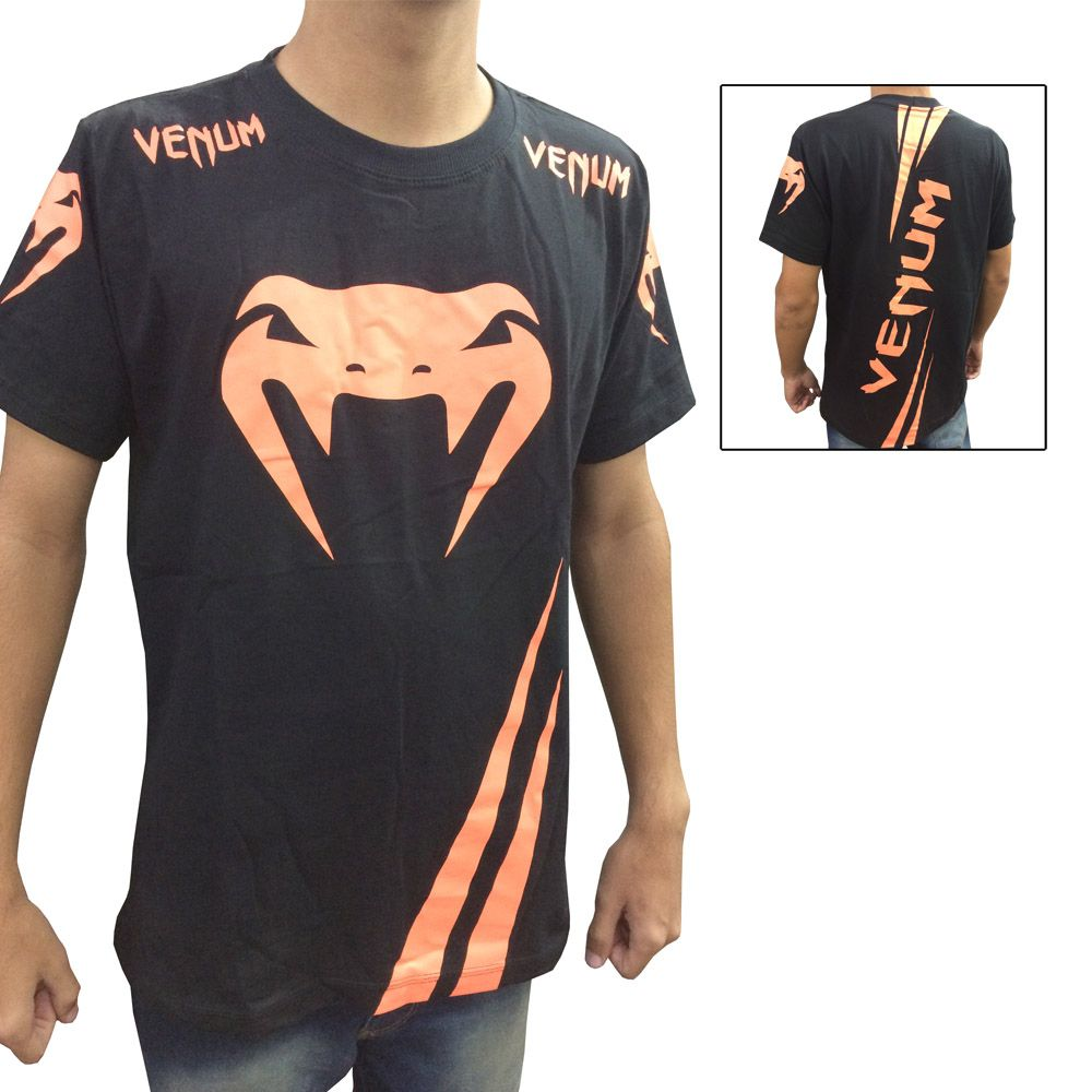 Camisa Camiseta - Cobra- Preto - Venum Fight