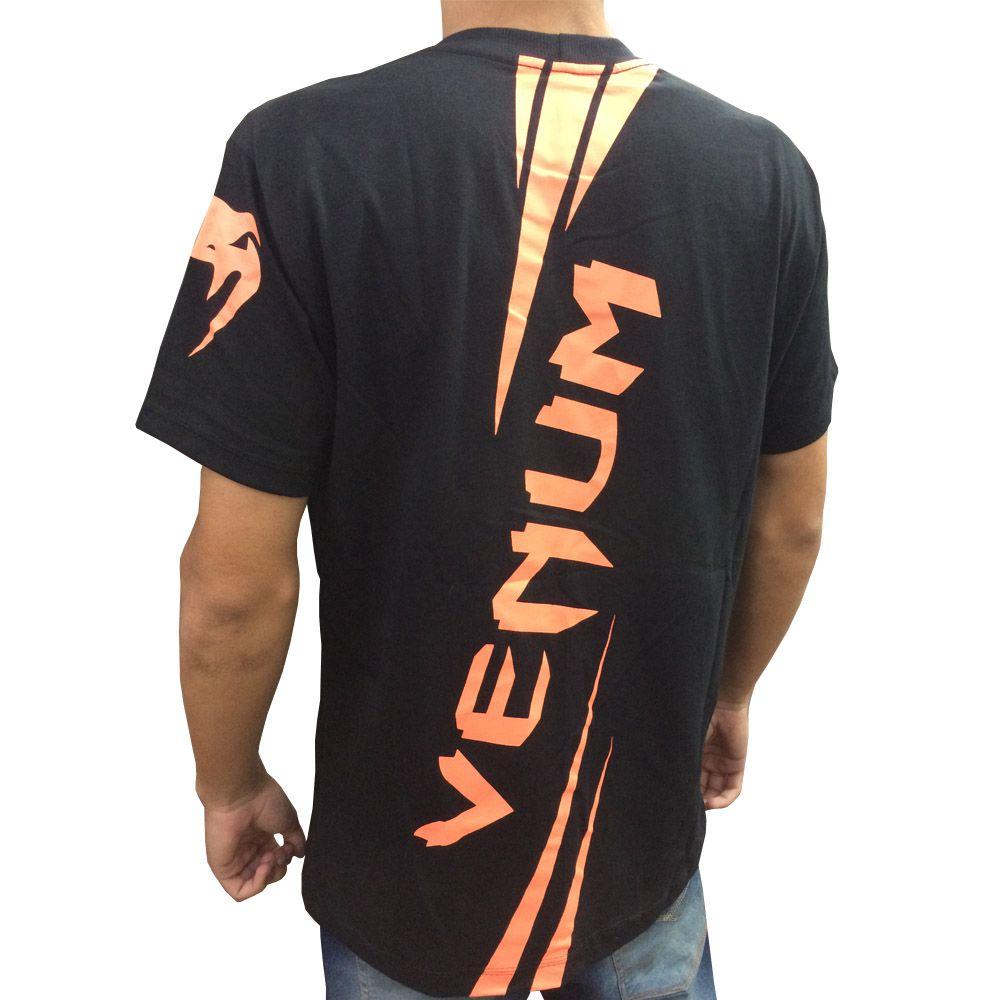 Camisa Camiseta - Cobra- Preto - Venum Fight  - Loja do Competidor