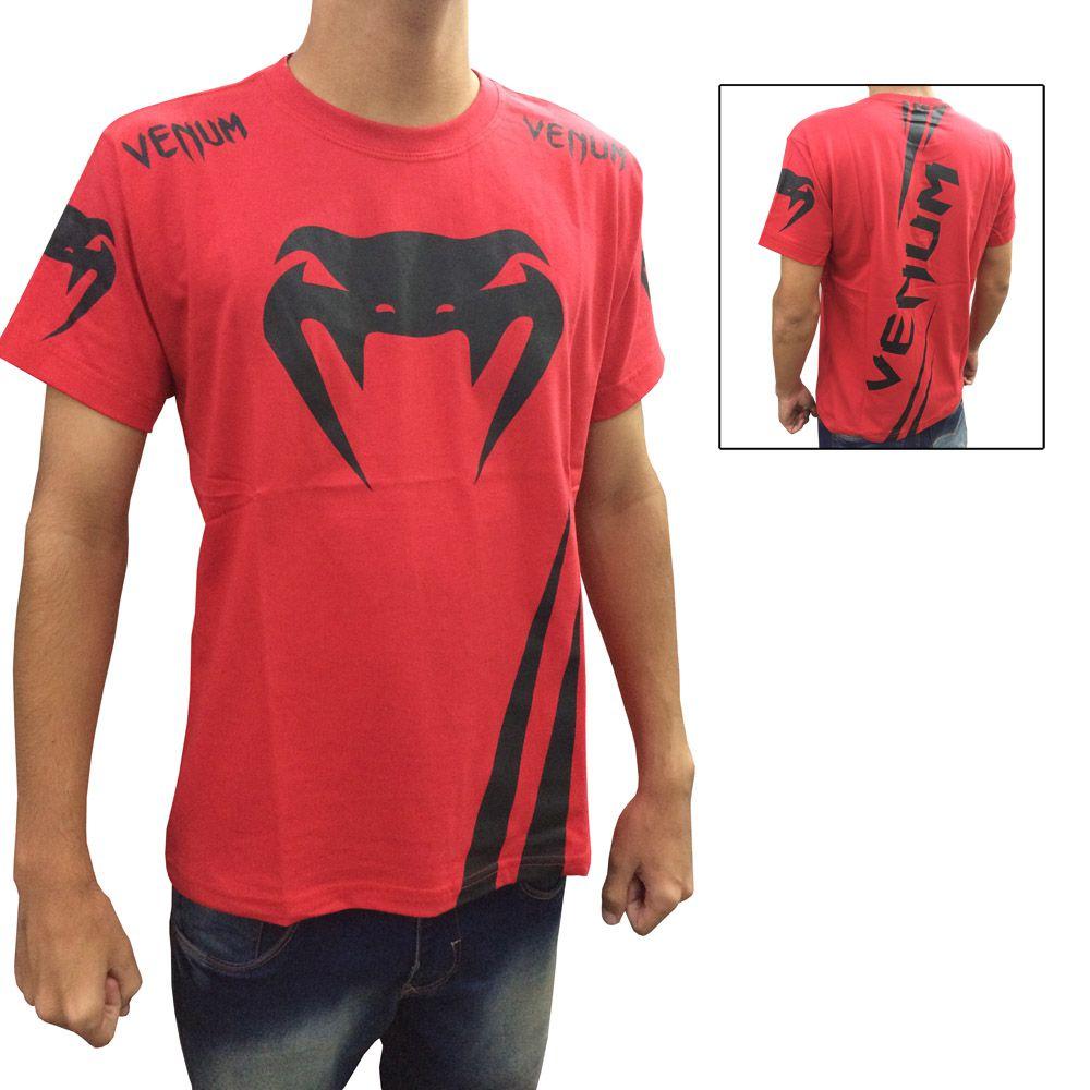 Camisa Camiseta - Cobra - Vermelha - Venum -