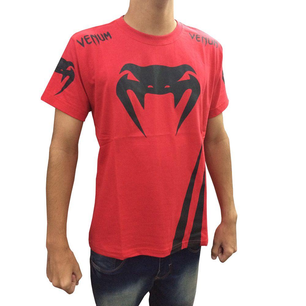 Camisa Camiseta - Cobra - Vermelha - Venum -  - Loja do Competidor