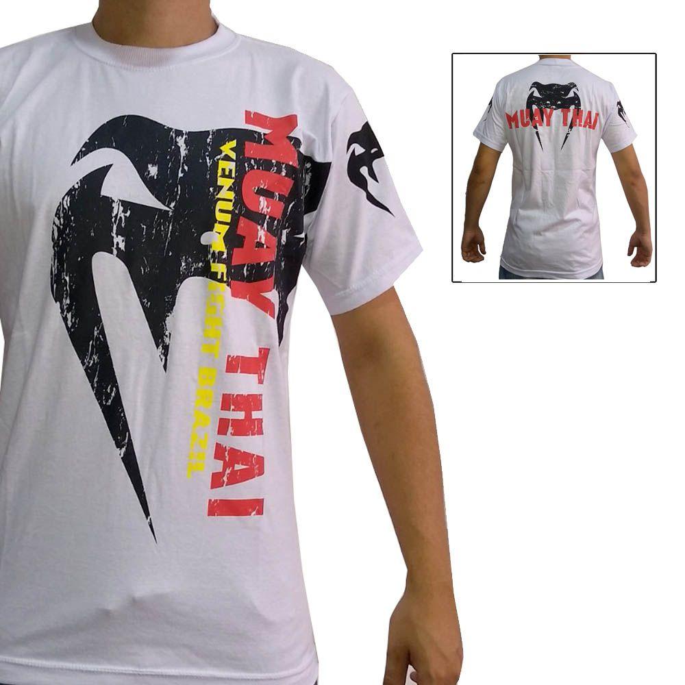 Camisa/Camiseta - Combate - Muay Thai - Branca - Venum
