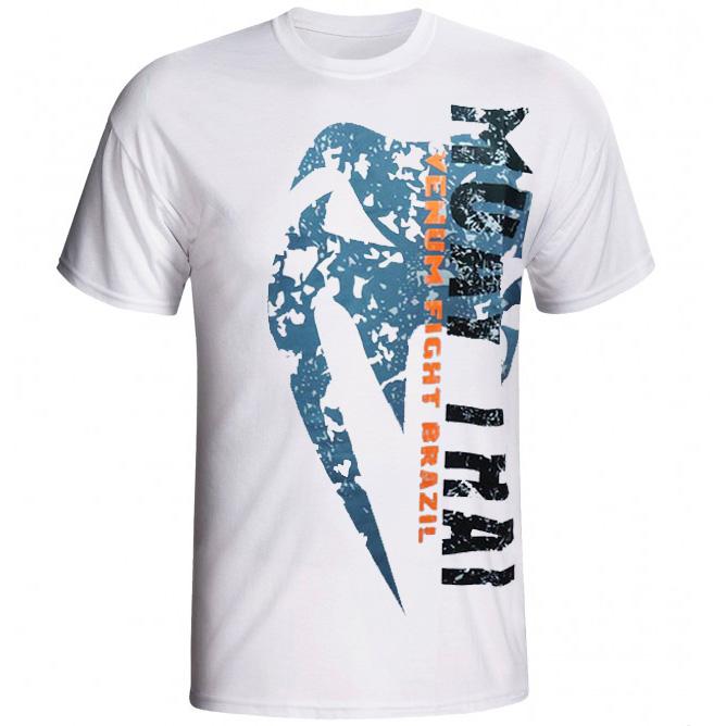 Camisa/Camiseta - Combate - Muay Thai - Branco- Venum