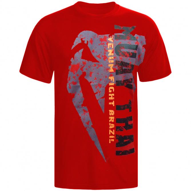 Camisa/Camiseta - Combate - Muay Thai - Vermelho - Venum
