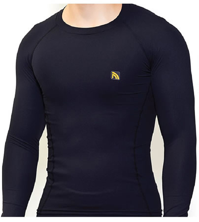 Camisa / Camiseta de Compressão Térmica - Manga Longa - Preto - Protector 360º