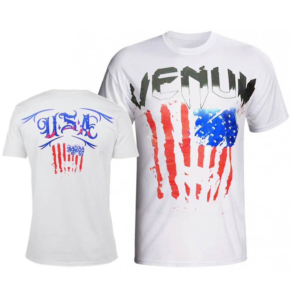 Camisa/Camiseta - EUA Flag - Branca -  Venum .