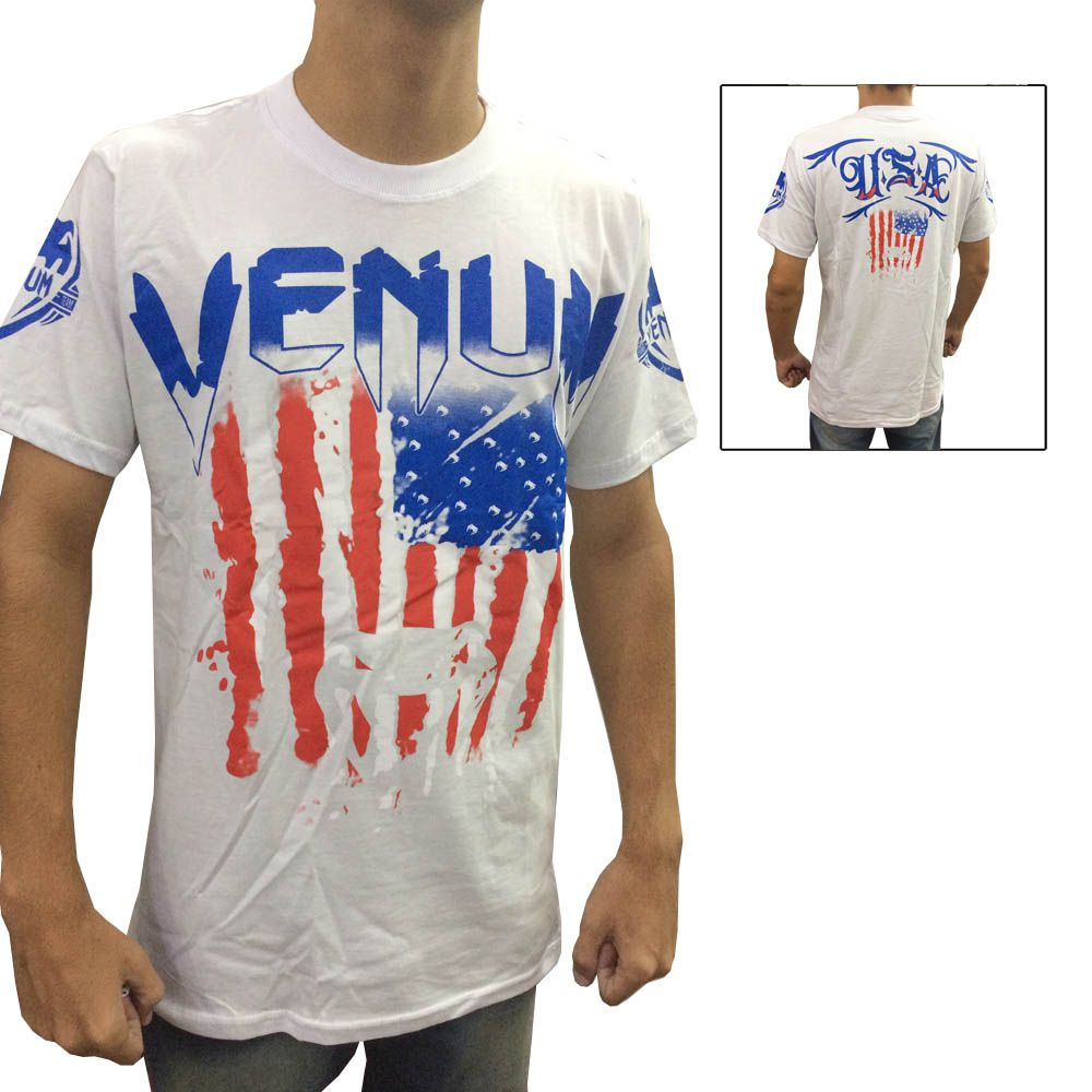 97629c4bd59fc ... Camisa Camiseta - EUA Flag - Branca - Venum - - Loja do Competidor ...
