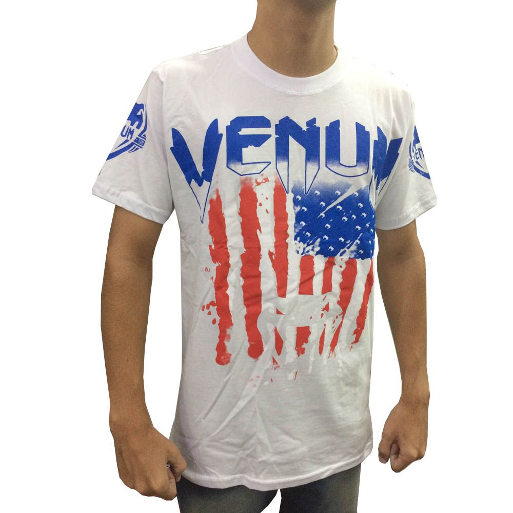 Camisa Camiseta - EUA Flag - Branca -  Venum  - Loja do Competidor