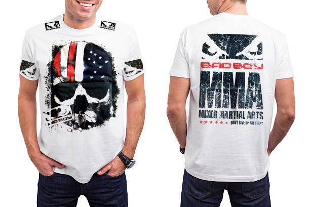 Camisa Camiseta - American Flag USA - Branco- Bad Boy -