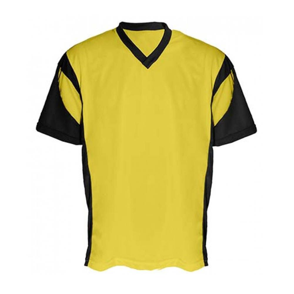 Camisa Camiseta - Futebol / Futsal- Attack- Amarelo/Preto - Adulto - Kanga
