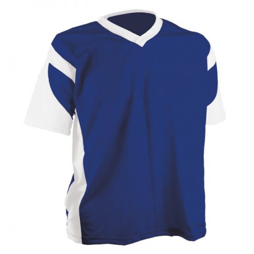 Camisa Camiseta - Futebol / Futsal / Volei - Attack- Branco/Azul- Adulto - Kanga  - Loja do Competidor