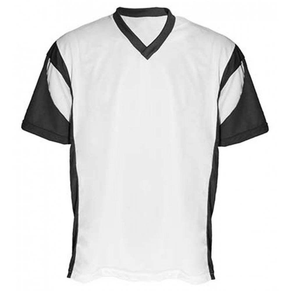 Camisa Camiseta - Futebol / Futsal / Volei Attack- Branco/Preto- Adulto - Kanga