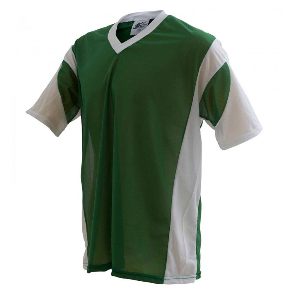 Camisa Camiseta - Futebol / Futsal / Volei Attack- Branco/Verde - Adulto - Kanga  - Loja do Competidor