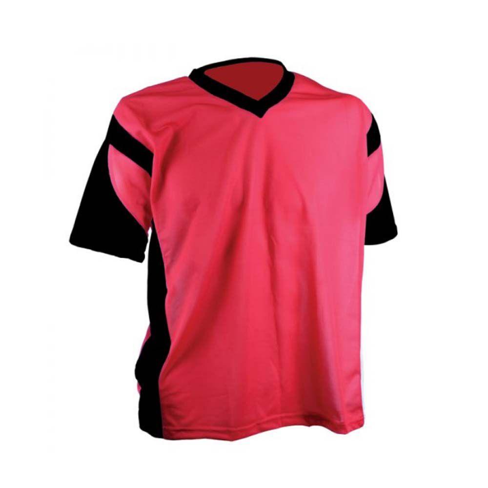 Camisa Camiseta Futebol / Futsal / Volei Attack Verm/Preto Adulto - Kanga