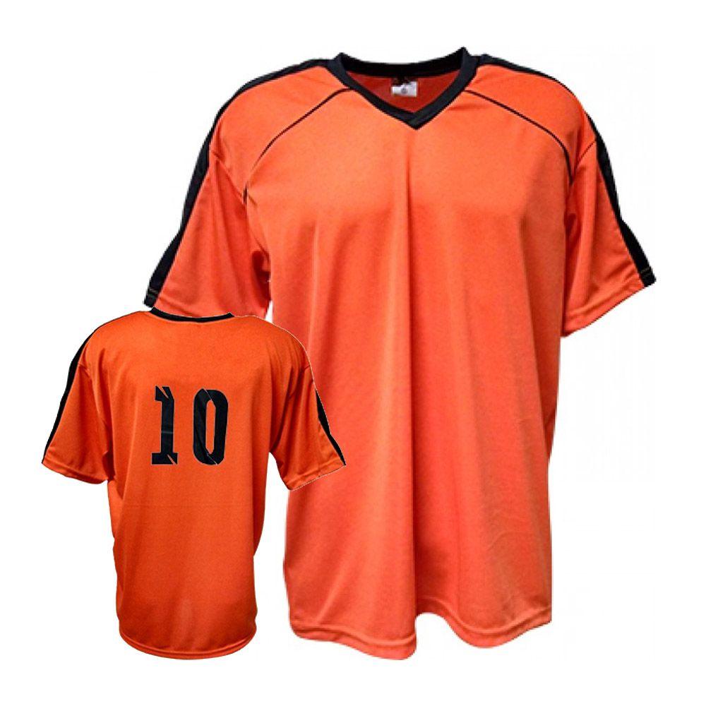 Camisa Camiseta Futebol / Futsal / Volei Arezzo- Laranja/Preto- Adulto - Kanga