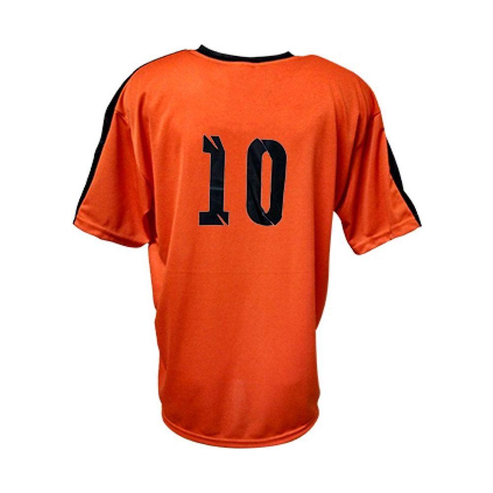 Camisa Camiseta Futebol / Futsal / Volei Arezzo- Laranja/Preto- Adulto - Kanga  - Loja do Competidor