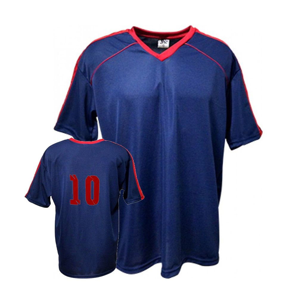 Camisa Camiseta Futebol / Futsal / Volei Arezzo- Marinho/Vermelho- Adulto - Kanga